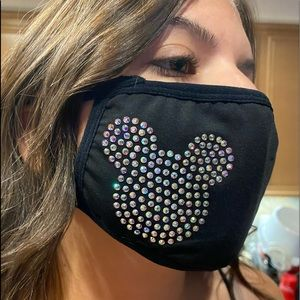 Mickey head inspired blinged out face mask